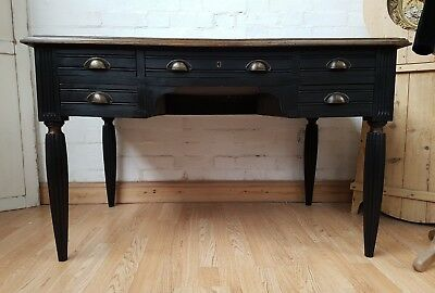 Striking Antique French Painted Pine Desk - C1920