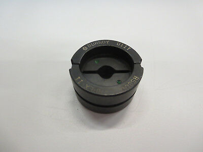 Burndy U11T H-Tap Connector Die , #14 Awg - #8 Awg, Green