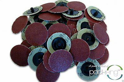 50 Pc 2 Inch Roloc Discs 80 Grit R Type Sanding Roll Lock - Rogue River Tools
