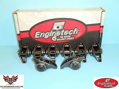 (8) Enginetech Chevy Ls3 L92 6.0 6.2 Rocker Arms With Updated Trunion Kits