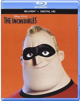 Disney Pixar The Incredibles(Blu-Ray+Digital Hd) Brand New Free Shipping