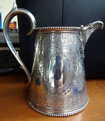 Superb Victorian Highly Decorated Silver Plated Milk Jug Circa 1880