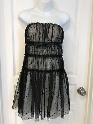 7da221bd8f8e GIAMBATTISTA VALLI IMPULSE $149 Black Nude Sheer Mesh With Underlay ...