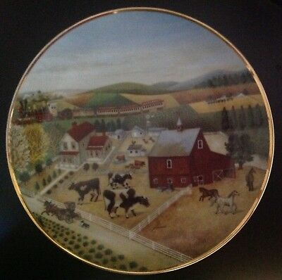 Franklin Mint, American Folk Art Collection Plate, Country Journeys, Cow Plate