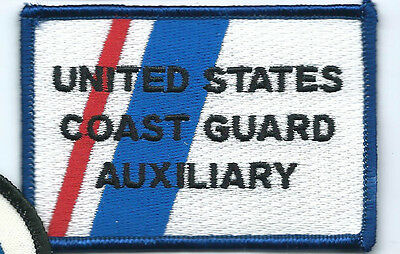 United States Coast Guard Auxiliary patch 2-1/4X3-1/4 inch blue/red/white #3408