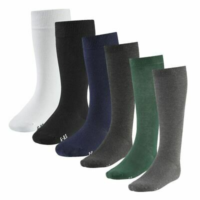 Multi Pack Boys Girls Knee High Cotton Socks Long Plain Children Kids School