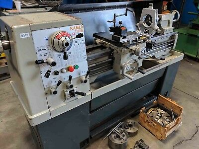 "14"" Swing x 40"" Center Ramco Engine Lathe Metal Turning Machine MDL1440"