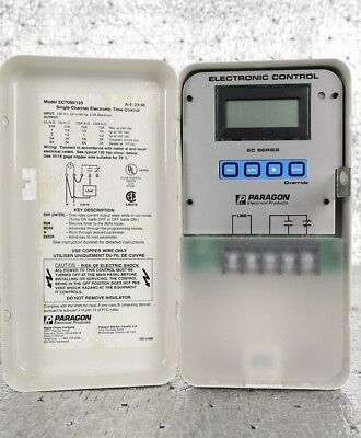 New Paragon Electric EC7000/120 Electronic 7 Day Timer Control 120V