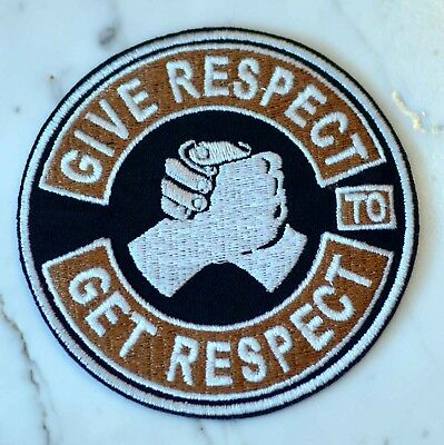 Give & Get Respect brown IRON ON PATCH Aufnäher Parche brodé patche toppa choppe
