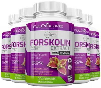 5 x Forskolin Maximum Strength 100% Pure 3000mg Rapid Results! Forskolin Extract