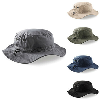 New BEECHFIELD Cargo Brimmed Army Bucket Hat in 4 Colours One Size