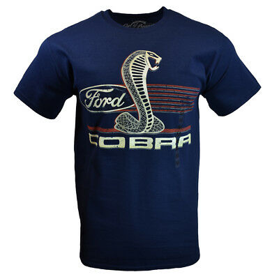 FORD Mens Tee T Shirt Shelby Mustang Classic American Muscle Car Racing Logo NEW