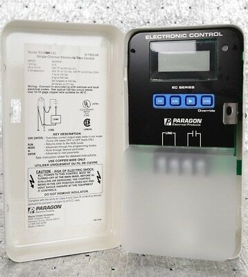 New PARAGON Electric EC4004/120 Electronic 7 Day Timer Control 120 VAC