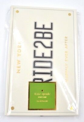 Kate Spade New York Bride 2 Be Hardcover Notebook w/200 lined pages & bookmarks