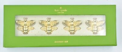 Kate Spade New York Gold Colored Bee Magnet Set of 4
