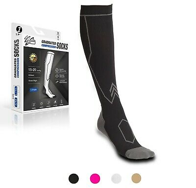 Compression Socks Travel Sports Running Cycling Calf Pain Relief Shin Foot