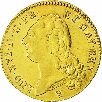 [#482595] Monnaie, France, Louis XVI, Double louis d'or à la tête nue, 1786