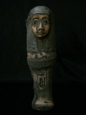 RARE EGYPTIAN ANTIQUE USHABTI Statue Shabti Stone EGYPT Goods 1932–1759 BC