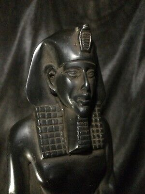 EGYPTIAN PHARAOHS ANTIQUITIES STATUE King Akhenaten Egypt Basalt Stone 1336 BC