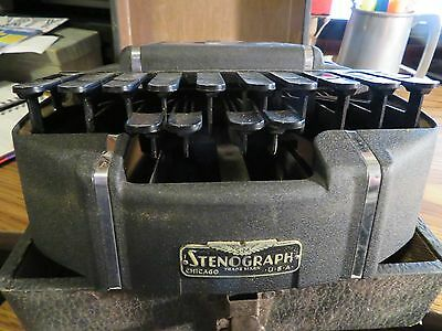 Early HEDMAN STENOGRAPH W/ CASE REPORTER SHORTHAND MACHINE