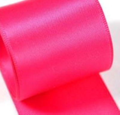 Berisfords Double Faced Satin Ribbon Shocking Pink 72 Various Widths