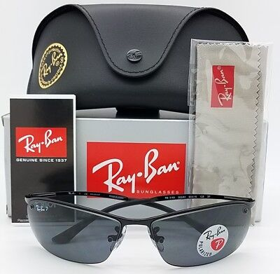 1f113739a7655b NEW Rayban sunglasses RB3183 002 81 63 Black Grey Polarized Top Bar GENUINE  3183