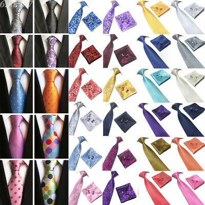 Fashion Mens Tie Paisley Stripe Silk Necktie Wedding Jacquard Woven Neck Tie Lot