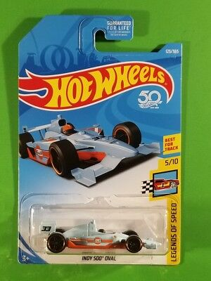 Hot Wheels - Indy 500 Oval (Blue) [HW 50th Anniv.; 5/10 - Legends of Speed]