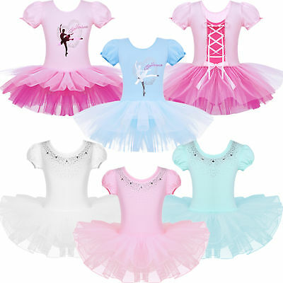 Ballet Leotard Tutu Skirt Girls Kid Toddler Princess Dress Up Dance Wear Costume