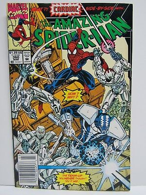 Vintage Marvel Comics Amazing Spiderman #360 Fine++ / Vf-  1St Carnage Cameo