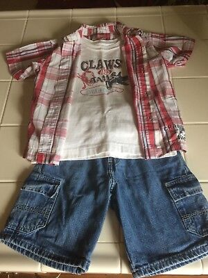 3 Piece Set for Boys Size 5- 1 Short Sleeve, 1 Sleeveless, 1 Short
