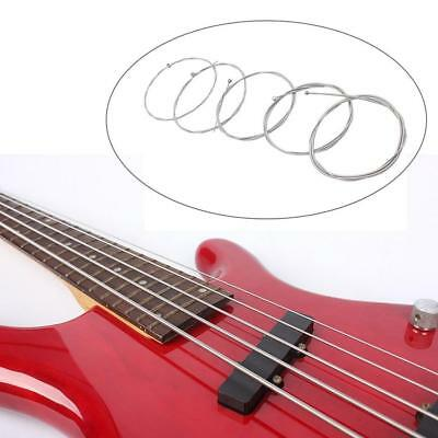Replacement Parts Tool Set of 5 Steel Strings for 5 String Bass Guitar HOT