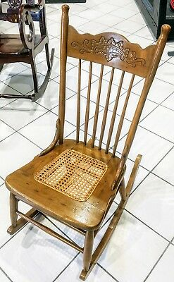 Small Vintage Wooden Rocker Rocking Chair