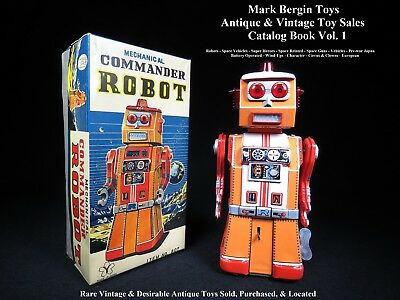 Bergintoys Sales Catalog 700+ Vintage Toys Tin, B/o, Robots, Vehicles, Character