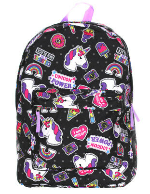 Unicorn Power Colorful Ice Creme Rainbow Girl 16 Inches Backpack