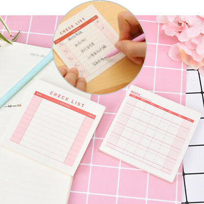 weekly monthly desk diary planner stickers planning pads to do list checklist3C