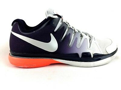 Nike Zoom Vapor 9.5 Tour Tennis Mens Size 10.5 Platinum/Silver/Purple 631458-005