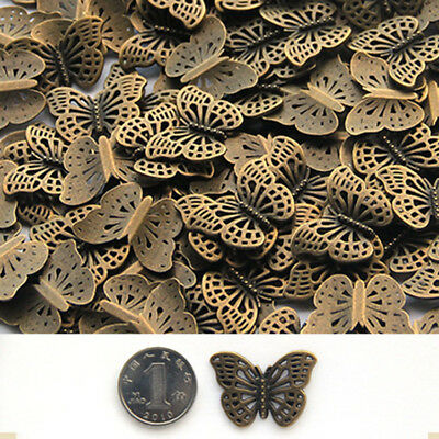 New 20Pcs Alloy Butterfly Pendant Accessories DIY Jewelry Making Findings HH3728