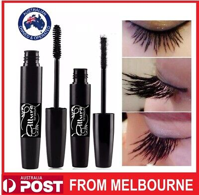 Fibre Mascara Black Waterproof 3D Lashes Eye Lash Extension Eyelash 2 Piece Set