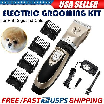 Professional Pet  Dog Grooming Clippers Kit For Dog Cat Hair Trimmer Groomer Set