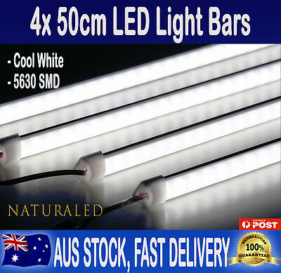 4X12V 50cm Cool White 5630 Led Strip Lights Bars For Car Camping Boat Caravan