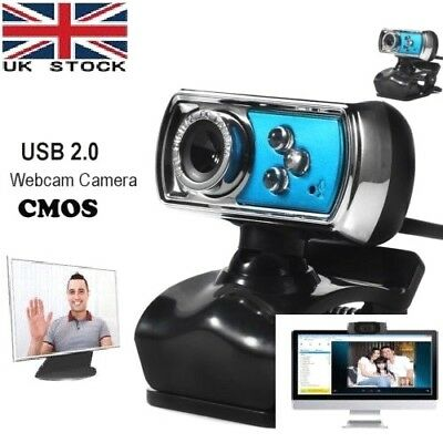 HD USB 12.0 MP Webcam Video Camera with Microphone Clip-on for PC Laptop Skype