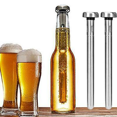 2PCS BEER CHILL STICK Stainless Steel Chiller Ice Cold Pourer Spout Bottle