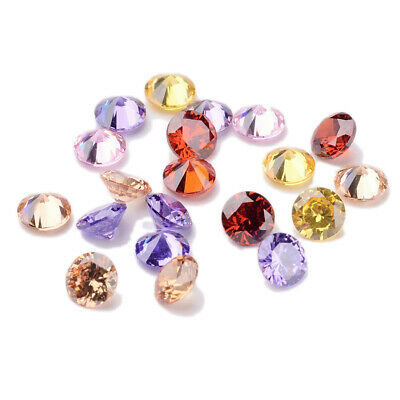 20PCS Mixed Grade A Rivoli Xilion Diamond Shaped Cubic Zirconia Cabochons 5x3mm