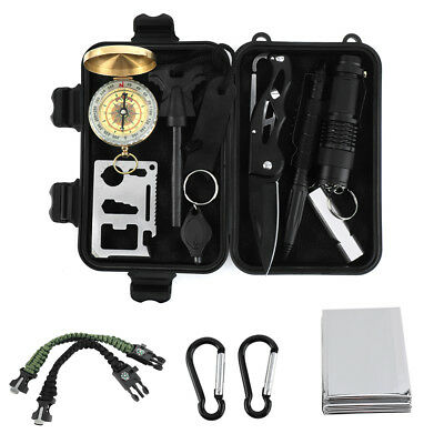 Emergency Survival Equipment Set Outdoor Sports Tactical Hiking Camping Tool Kit