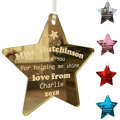 Personalised Teacher Gift Thank You for helping me shine End of Year Star Gifts