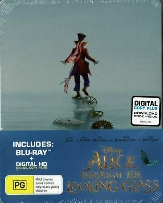 Alice Through The Looking Glass Steel Book Bluray Region Free ABC New