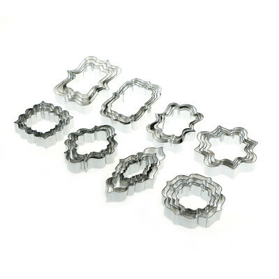4pcs European Wedding Frame Cookie Cutter Stainless Steel Biscuit Mold Baking M&