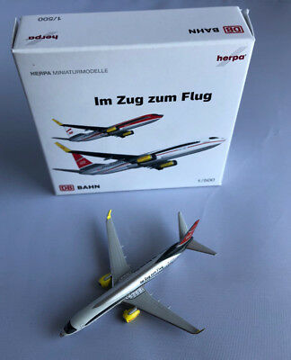 "Herpa Wings 1:500 518369  TUIfly Boeing 737-800 Deutsche Bahn ""ICE"""