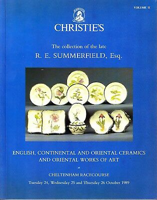 Christie's Collection of R. E. Summerfield Volume 2 Oriental Ceramics Cheltenham